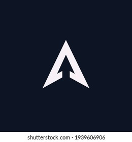 The letter A initials logo is combined with a modern and professional arrow icon