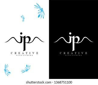 letter ip/pi creative logo design vector