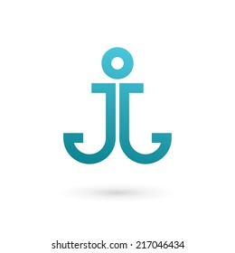 Anchor logo images stock photos vectors shutterstock letter j anchor logo icon design template elements vector color sign thecheapjerseys Choice Image