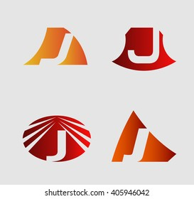 Letter J Company logo icon template set