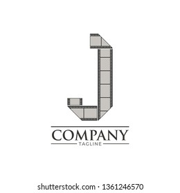 Letter j filmstrip logo