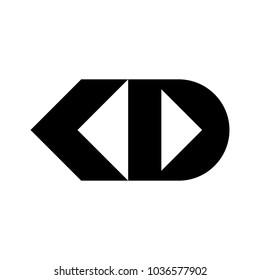 letter J K and D vector logo