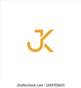 letter J K logo template download