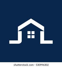 letter J and L logo vector.