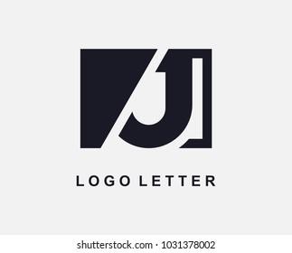 Letter J Logo Design With Square