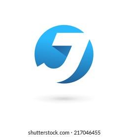 Letter J logo icon design template elements. Vector color sign.