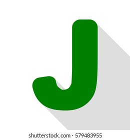 letter j sign design template element green icon with flat style shadow path