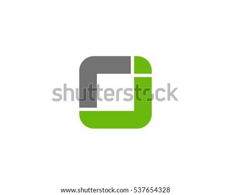 letter j square logo design template element
