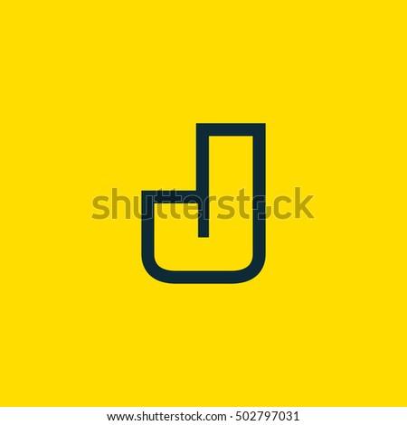 Letter J Vector Logo Useful Branding Stock Vector Royalty Free