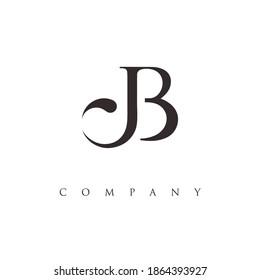 letter JB logo design vector
