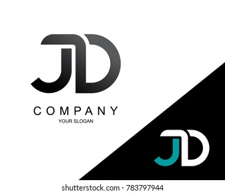 Letter JD Logo Icon Design Template Element