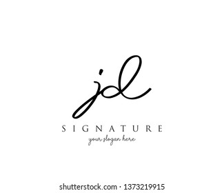 Letter JD Signature Logo Template - Vector