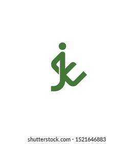 letter JE EJ logo icon vector icon minimal design template