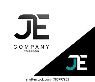 Letter JE Logo Icon Design Template Element