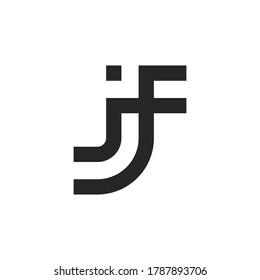 Letter JF logo design template