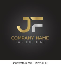 letter JF Logo Design Vector Template. Initial Linked Letter Design JF Vector Illustration