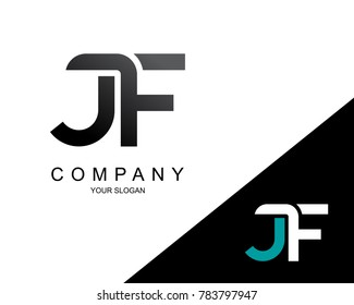 Letter JF Logo Icon Design Template Element