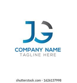letter JG Logo Design Vector Template. Initial Linked Letter Design JG Vector Illustration