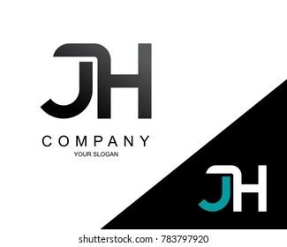 Letter JH Logo Icon Design Template Element