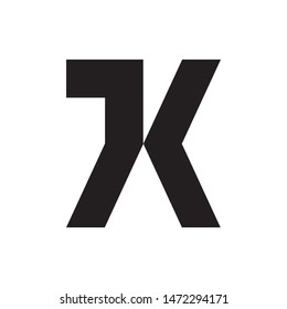 Letter JK logo design vector