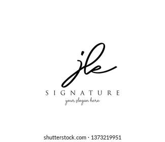 Letter JK Signature Logo Template - Vector