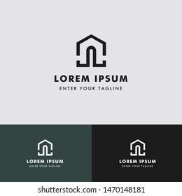 Letter JL Home, Concept Initial J + L + Icon Home.