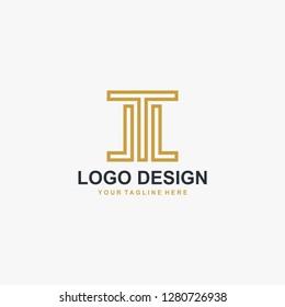Letter JL monogram logo design vector