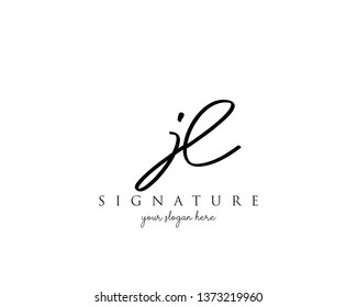 Letter JL Signature Logo Template - Vector
