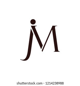 letter jm simple geometric logo