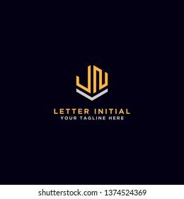 Letter JN Initial icon / Monogram.- Vector inspiration logo design - Vector
