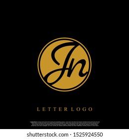 Letter JN logo initial emblem letter luxury vector.