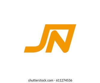 letter JN logo template
