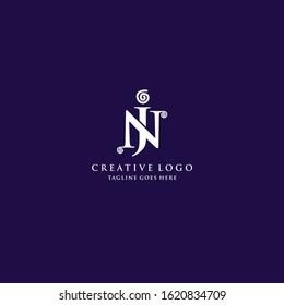 Letter JN Letter mark logo Inspiration