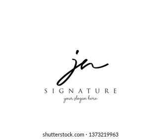 Letter JN Signature Logo Template - Vector