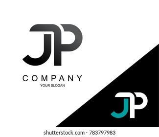 Letter JP Logo Icon Design Template Element