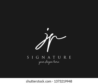 Letter JP Signature Logo Template - Vector