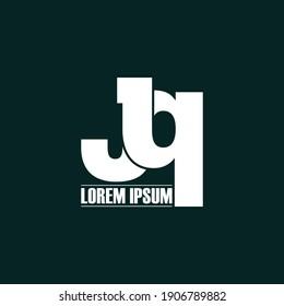 Letter JQ simple logo design vector