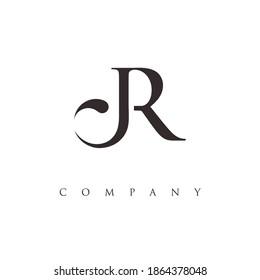 letter JR logo design vector