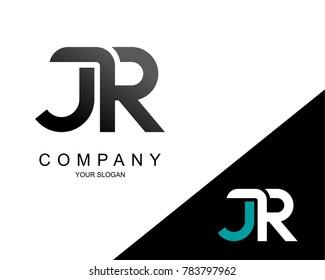 Letter JR Logo Icon Design Template Element