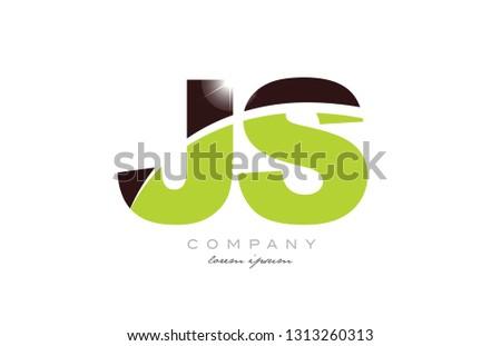 Letter Js J S Alphabet Combination Stock Vector (Royalty Free