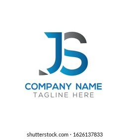 letter JS Logo Design Vector Template. Initial Linked Letter Design JS Vector Illustration