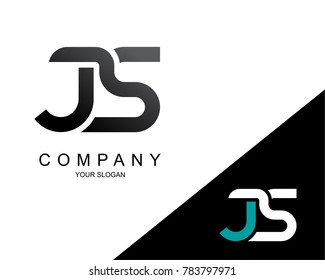 Letter JS Logo Icon Design Template Element