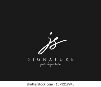 Letter JS Signature Logo Template - Vector