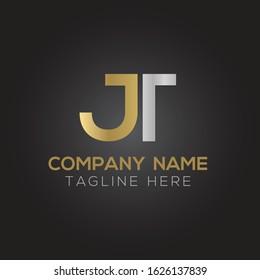 letter JT Logo Design Vector Template. Initial Linked Letter Design JT Vector Illustration