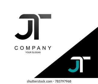 Letter JT Logo Icon Design Template Element