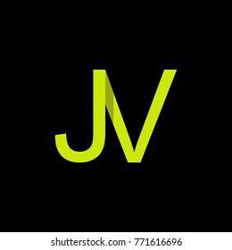 Letter JV logo design template.