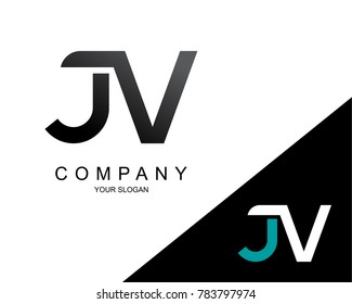 Letter JV Logo Icon Design Template Element
