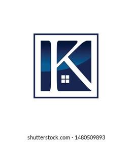 Letter K Abstract realty logo - Vector logo concept illustration. Vector logo template. Design     element. Realty logo design