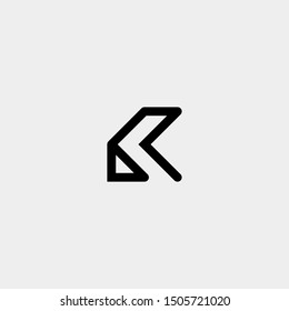 Letter K AK KA R Monogram Logo Design Minimal Icon