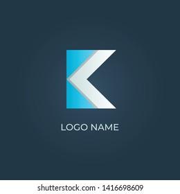 "Letter ""K"" alphabet logo on isolated. Vector image"